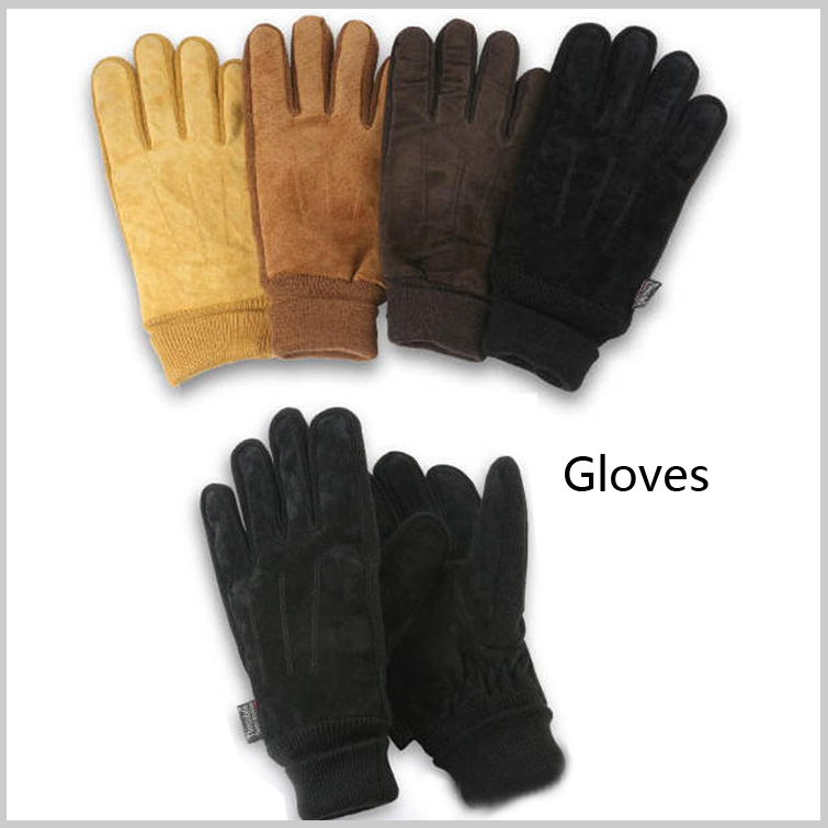 Warm winter casual rider sport fashion men outdoor leather knitted glove motorcycle gloves XXL black coffee - Ocean Blue Store store