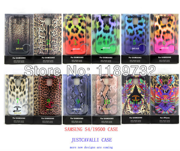 HK Post 10pcs/lot cover for Samsung Galaxry S4 IV I9500 Puro Just Cavallis case 14 designs TPU just Case optional retail box(China (Mainland))