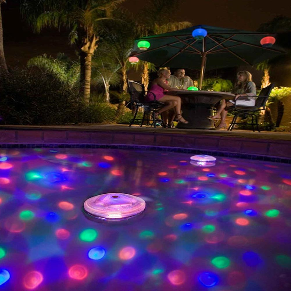 5 lighting Modes Amazing light Disco Glow Show Pond Pool LED light SPA Swimming Pool lamp Floating bulb Child Bath Tub-Colorful(China (Mainland))