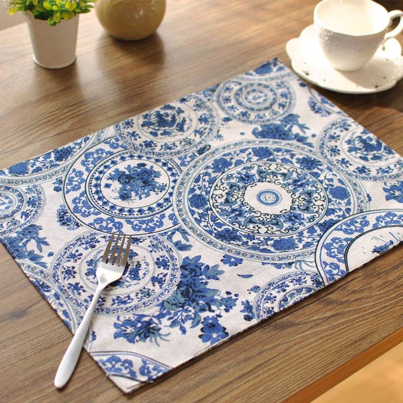 Double thick mat cotton orchid wholesale trade cloth placemats insulation pad manufacturers Coasters table mat napkin placemat(China (Mainland))