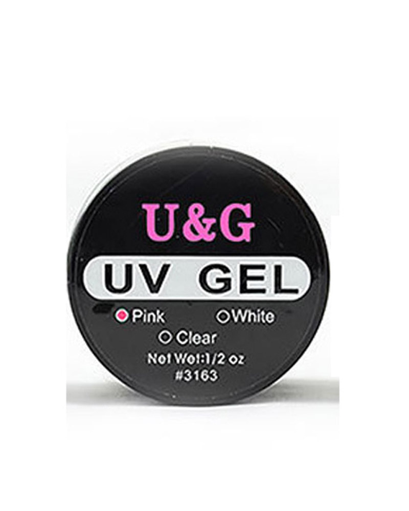 Free shipping Professional Pink White Clear Nail Art Tips Glue UV Builder Gel #M01306(China (Mainland))