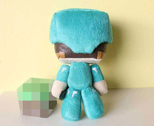 """HOT! Minecraft Steve Plush Toys 7"""" Minecraft Steve With Diamond Sword Plush Toy Doll Soft Stuffed Toys for Kids Children Gifts(China (Mainland))"""
