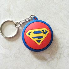 100 pçs/lote Superhero Ironman Spiderman Batman Capitão América figura brinquedos 3D mini anel chave chaveiros pingentes(China)