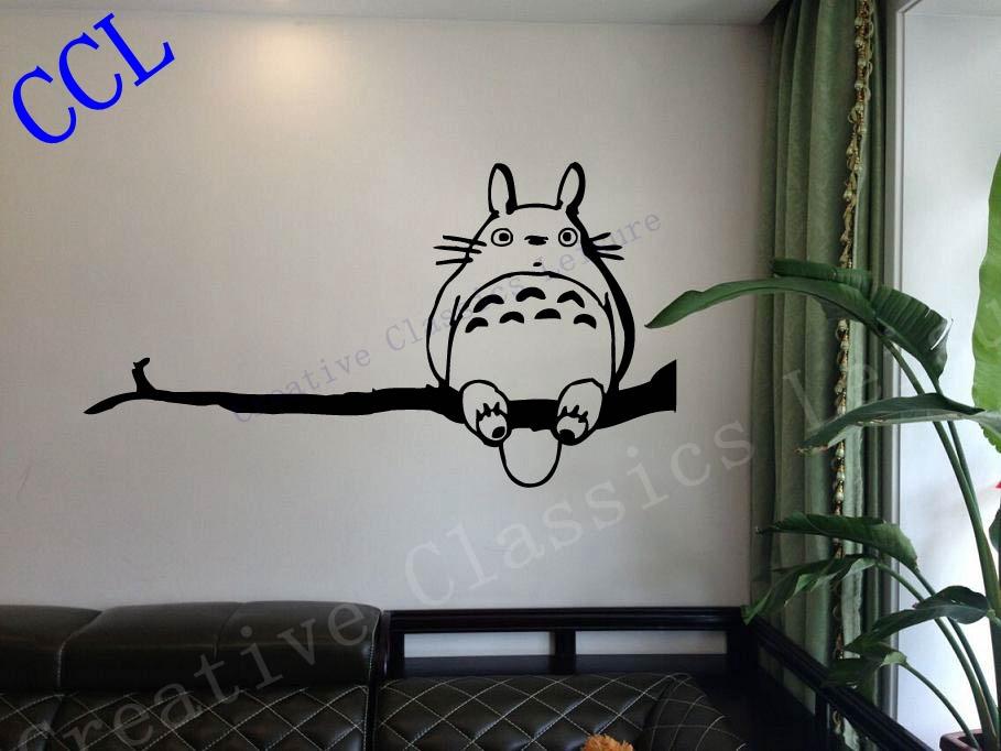 ghibli totoro my neighbor totoro inspired wall decal tortoro decal