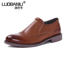 spring Men shoes Genuine Leather flat with casual shoes brown, black Men's Oxford shoes Plus Size 45 huarche yeezy(China (Mainland))