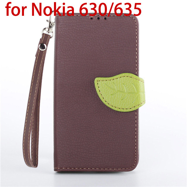 2015 New Lovely Mobile Case for Nokia Lumia 630 635 Flip Wallet Cover PU Leather Cases With Lanyard Stand Coque Capa Para Fundas(China (Mainland))