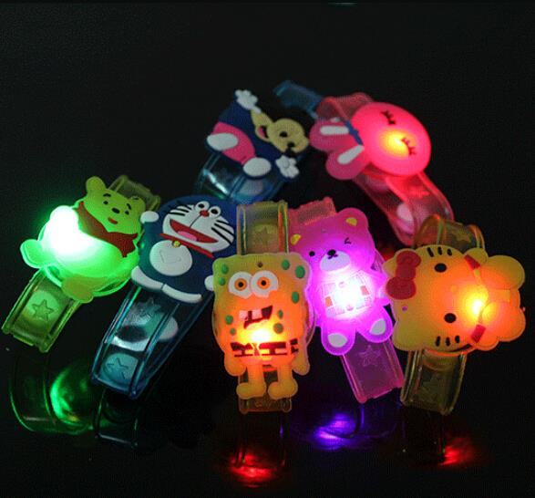 Cartoon light up toys creative luminous hand ring kids led toys novel light-emitting bracelet glow in the dark party supplies(China (Mainland))