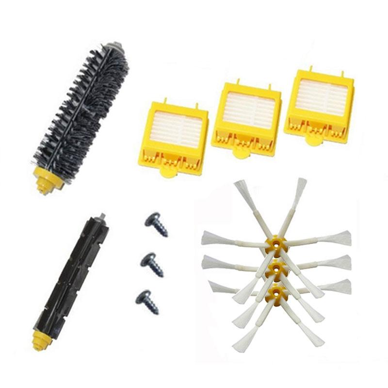 Bristle & Flexible Beater Brush & Hepa Filter & Side Brush kit Replacement for iRobot Roomba 700 Series 760 770 780 790(China (Mainland))