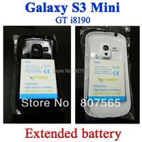 High Capacity 3900mAh Extended Battery with Door Cover Case for Samsung Galaxy S3 Mini i8190 GT-i8190 Bateria Batterij ACCU