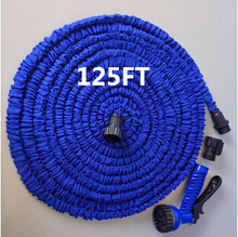 HOT 125FT Magic Garden Hose Long with gun water garden Pipe Water valve+ spray Gun With EU or US connector,pocket hose,37.5m(China (Mainland))