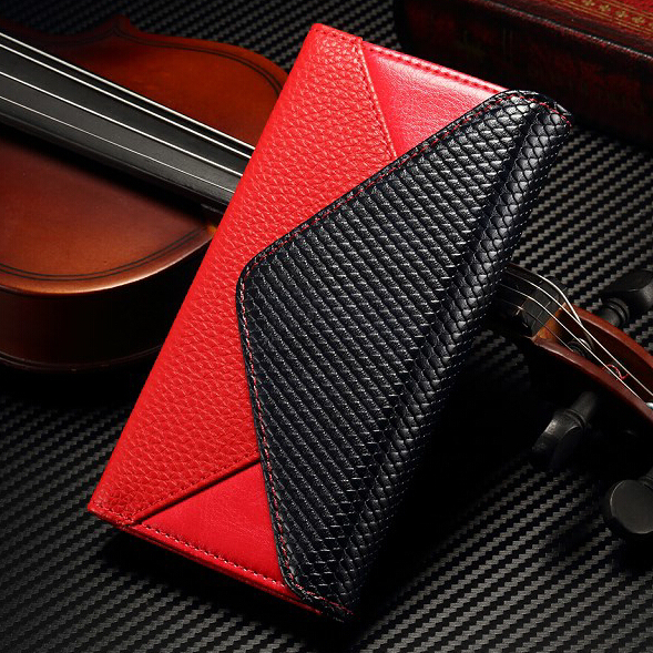 """Luxury Envelope Flip Wallet Magnetic Card Slots Photo Frame Stand Leather Case Cover For iphone 6 6S 4.7"""" Samsung S6/S6 Edge"""