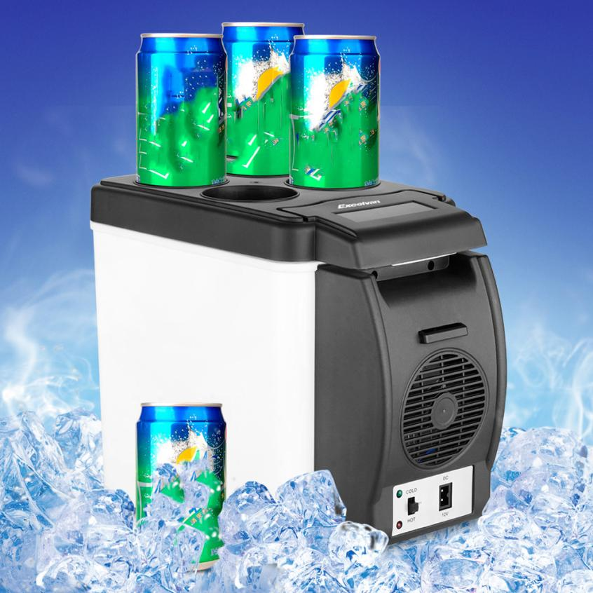 New Arrival 12V 6L Car Mini Fridge Portable Thermoelectric Cooler Warmer Travel Refrigerator nr28(China (Mainland))