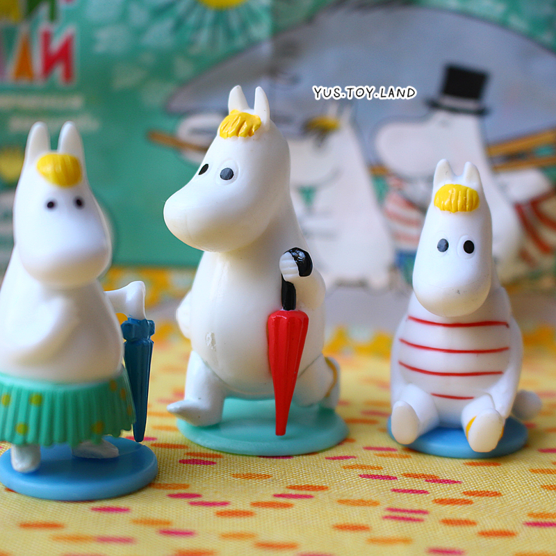 New Arrival Rare Collection 3pcs/lot Moomin Cute Snorkmaiden Doll PVC Action Figure Birthday Gift Toy Home Car Decoration(China (Mainland))