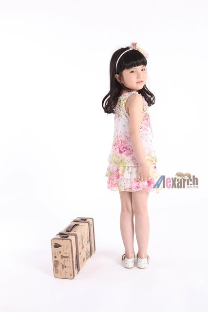 Free shipping!!Factory Direct! HOT SELLING! TOP QUALITY! Children's clothing fashion baby girls short-sleeved lace dress A1028