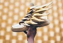 Free Shipping New 2015 Jeremys Originals Wings 3.0 Scott Gold Luxury struck Sneakers shoes size 28-44(China (Mainland))