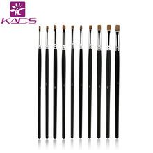 KADS 10pcs/SET Nail Art Design Brush Spiral Gel Pen Tips Tool for nail brush,nail tool ,10 size set.professional nail art brush(China (Mainland))