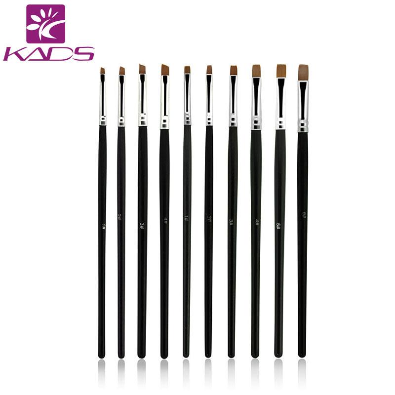KADS 10pcs/SET Nail Art Design Brush Spiral Gel Pen Tips Tool for nail brush,nail tool ,10 size set.professional nail art brush(China (Mainland))