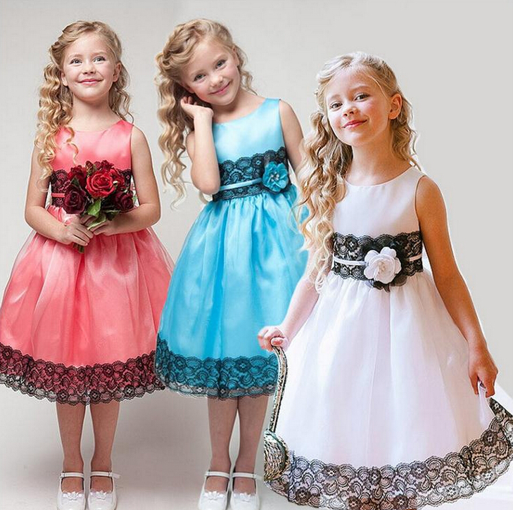 Free shipping little girls kids PrincessTulle Dress Holiday Casual Dress Easter Dress Children Holiday Dress 3 Colors(China (Mainland))