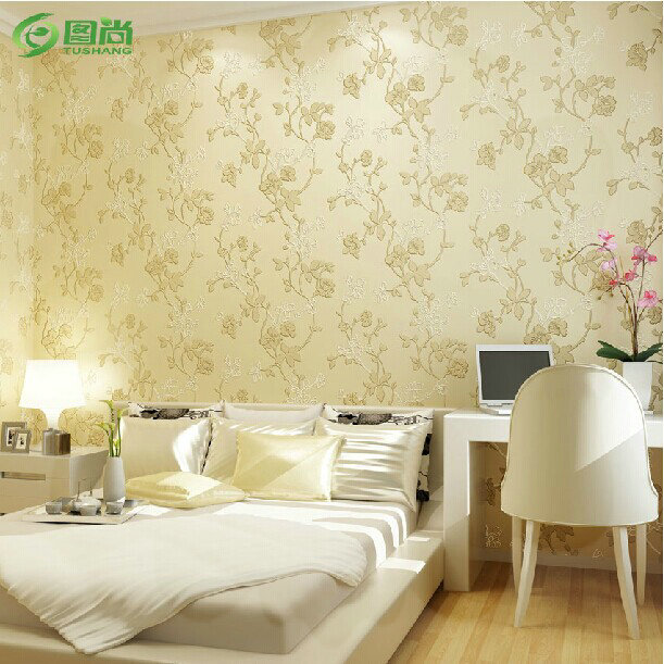 mop water Solid color non-woven wallpaper 3D modern pastoral style sofa tv background wallpaper torneira ouro cromo(China (Mainland))