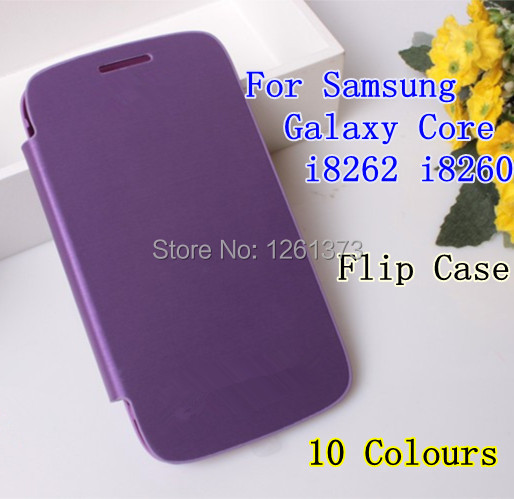 Samsung Galaxy Core I8260 I8262 GT-I8262 8260 8262 PU Flip Leather Back Battery Cover Case - Jessica store