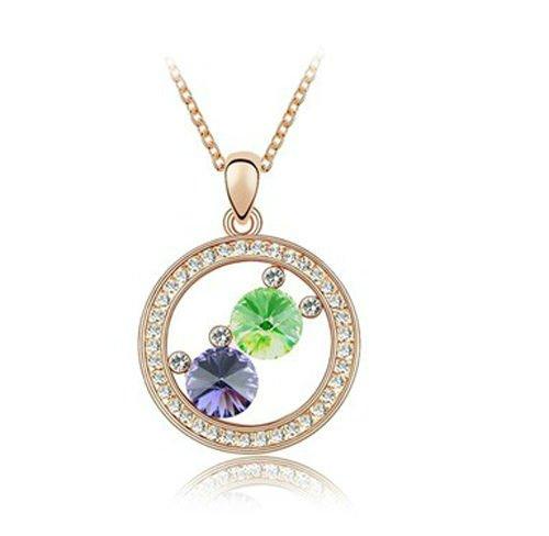 Free Shipping Factory wholesale hot sell fashion design swan princess shape crystal necklace(China (Mainland))
