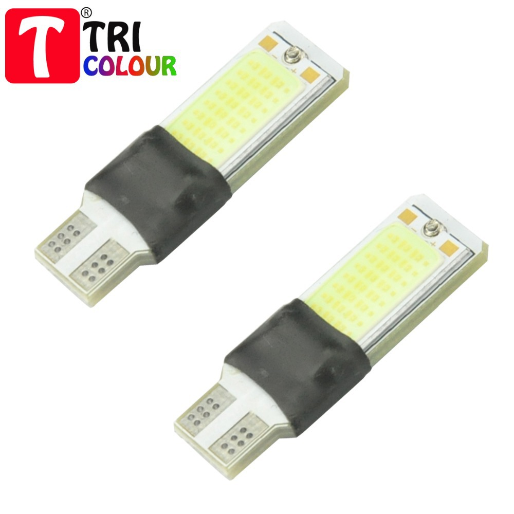 10 X COB T10 W5W 48SMD leds CANBUS Super Bright Led Clearance Light Car Auto wedge lamp bulb white No error #LB78<br><br>Aliexpress