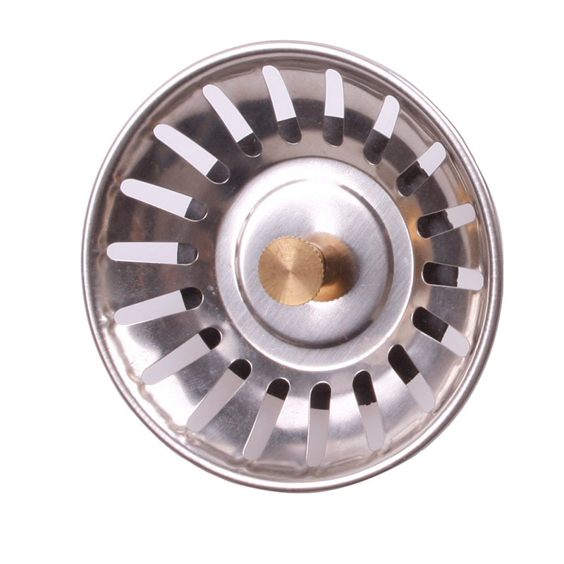 Kitchen Practical Stainless Steel Sink Strainer Waste Disposer Plug Drain Sto # Wasbak Plug_025130
