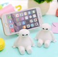 Novelty Big Hero 6 The Baymax Cartoon Characters Silicone Phone Stand Novelty Phone Accessories Smartphones Mount