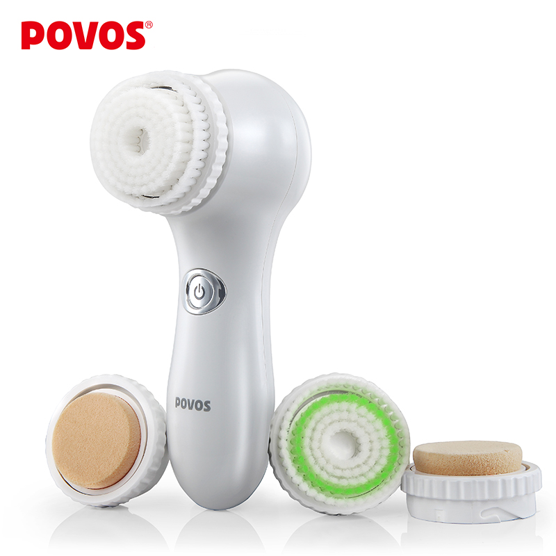 2016 New Electric Facial Cleanser Deeply Cleaning Brush Face Care Beauty Tool system Facial SPA Beauty Massage POVOS PM6101(China (Mainland))