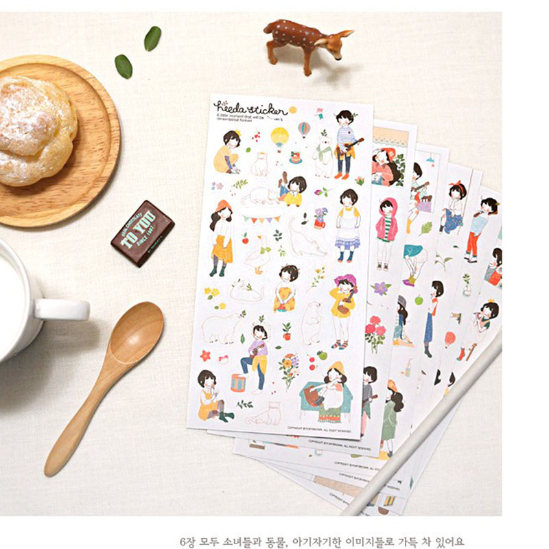 6 sheets/1 set  Cute stationery  kawaii sweet Girls planner stickers/scrapbooking stickers/filofax/Decoration Label<br><br>Aliexpress