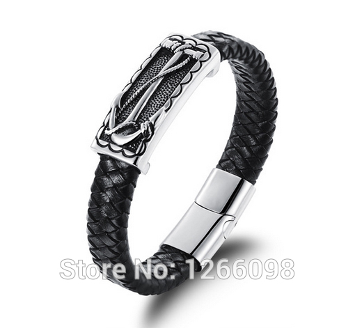 wholesale Wide Mens weave Chain Men Bracelet Classic creative Pirate ships anchor Bangle Jewelry<br><br>Aliexpress