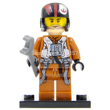 Star Wars 7 Minifigures Poe Dameron Single Sale The Force Awakens Starwars Building Blocks Set Bricks Toys Figures