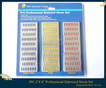 "LARGE Diamond Sharpening Hone Set Stone Whetstone Block Kitchen Knife 2""X 6""(China (Mainland))"