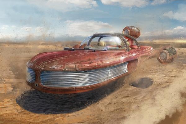 landspeeder Star Wars Tysen Johnson vehicle 4 Sizes Home Decoration Canvas Poster Print