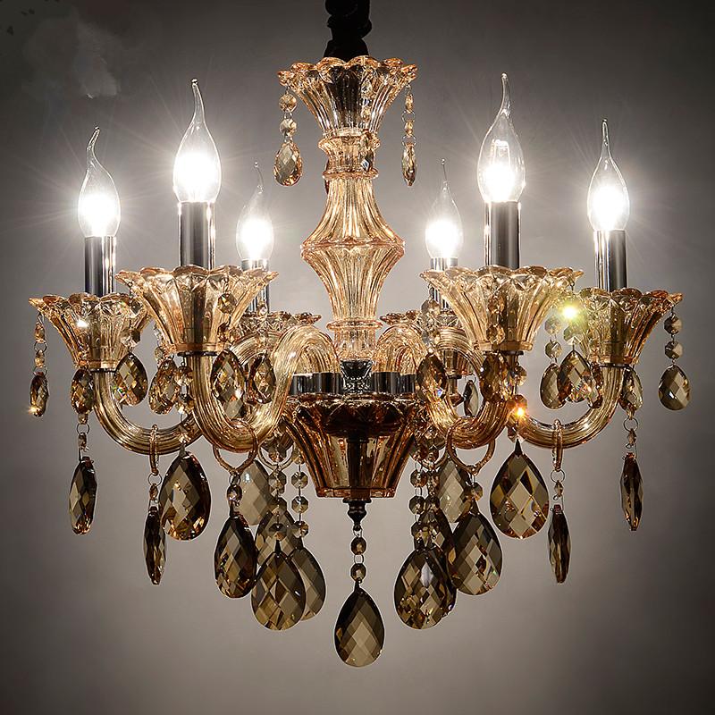 European Pendant Chandelier Luxury K9 Crystal Living Lamp Candle crystal chandelier Bed room Crystal lights chandelier lighting(China (Mainland))