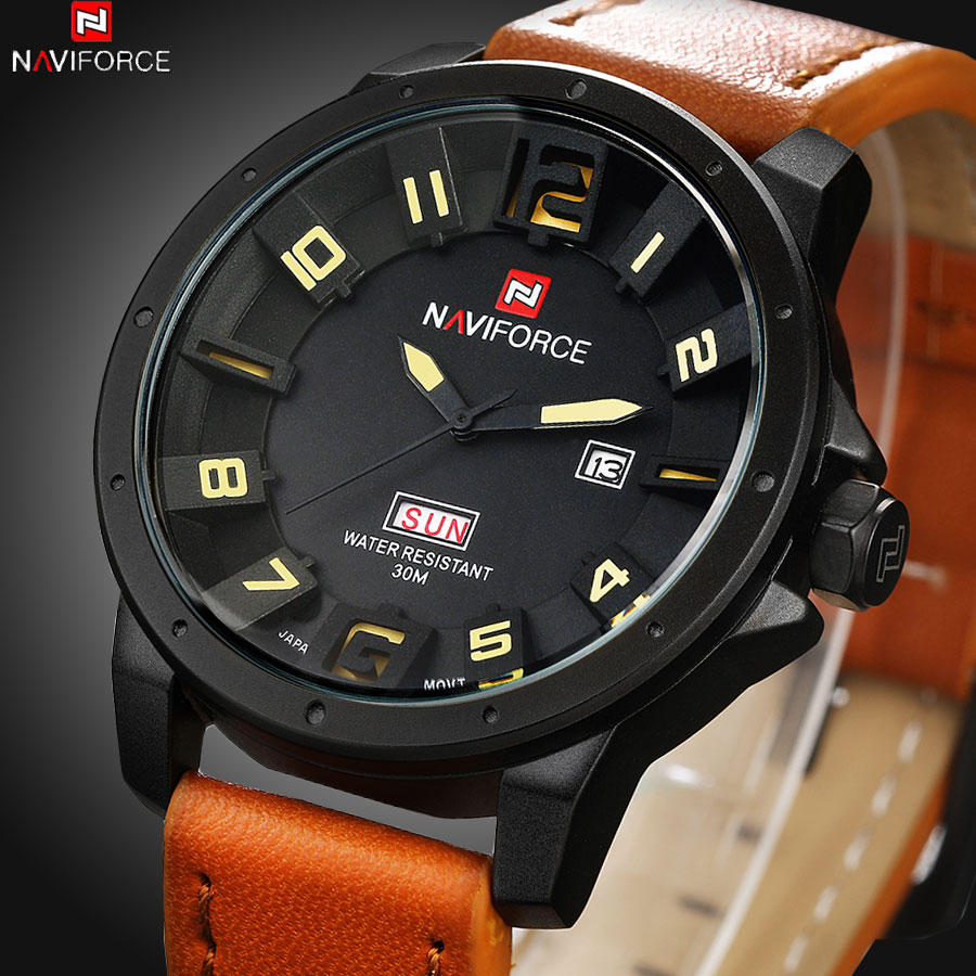 New Arrival Luxury Brand Leather Strap Analog Men Quartz Hour Date Clock Fashion Casual Sports Watches Men Military Wrist Watch(China (Mainland))