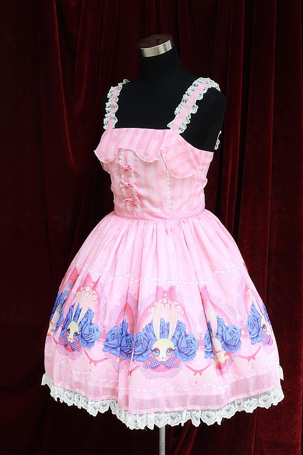 Sweet Lolita Dresses Bunny printing Dress JSK Halloween Japanese style cute Rabbit Dresses Lolita Alice CostumeОдежда и ак�е��уары<br><br><br>Aliexpress