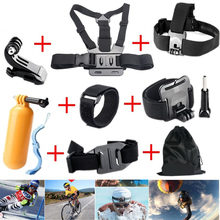 Gopro Accessories Chest Head Strap Monopod Floating Bobber Mount for Go pro Hero 4 3+2 xiaomi yi action camera sjcam sj4000 GS22
