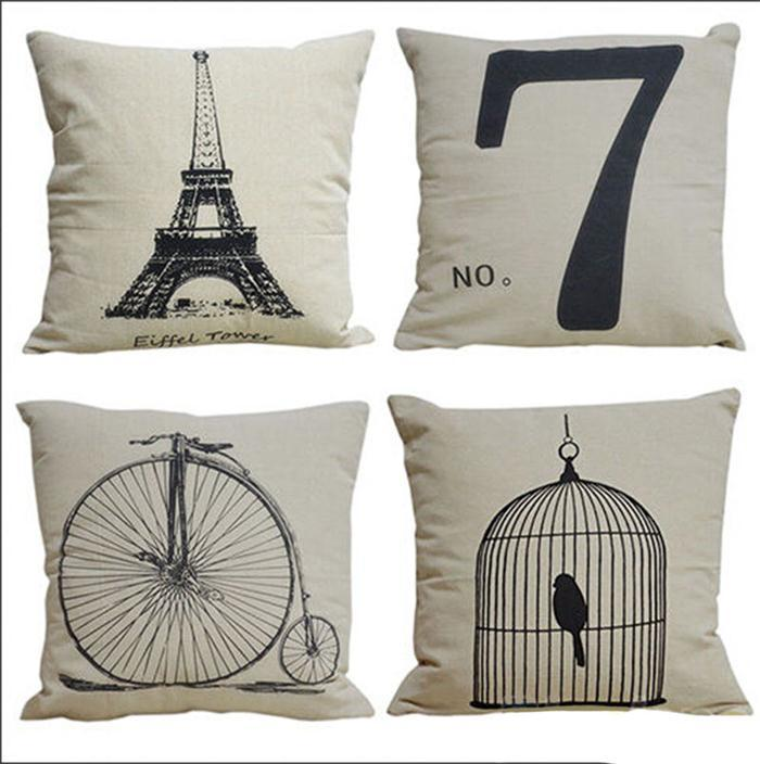 pillow case Simple Fashion linen Throw Pillow Cases Home Decorative Cushion Pillow Cover Square emoji pillow 2015 new !! hot !!