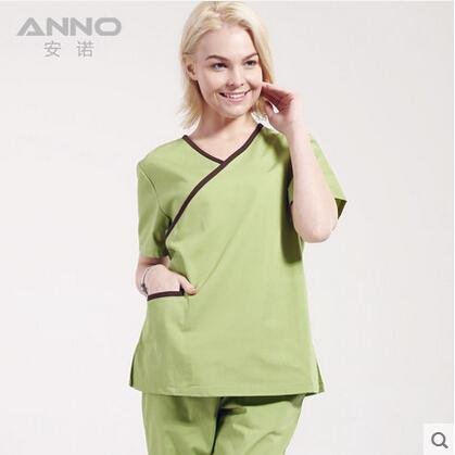 High quality women medical uniform short sleeve free shipping(China (Mainland))