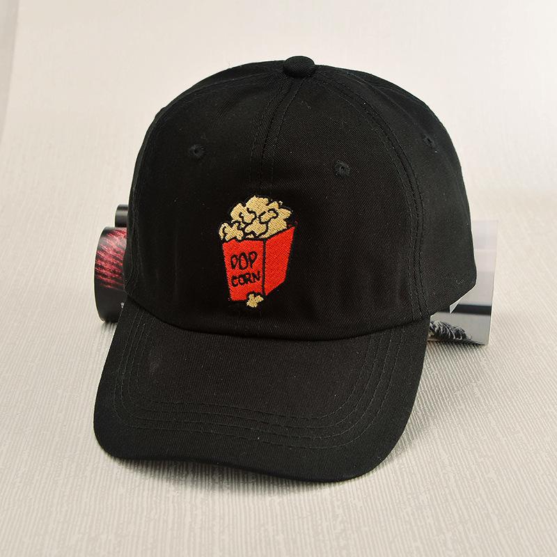 2016 New Cartoon Popcorn Summer Snapback Hats For Men Women Sun Visor Sport Baseball Cap Gorras Casquette Polo Hat(China (Mainland))