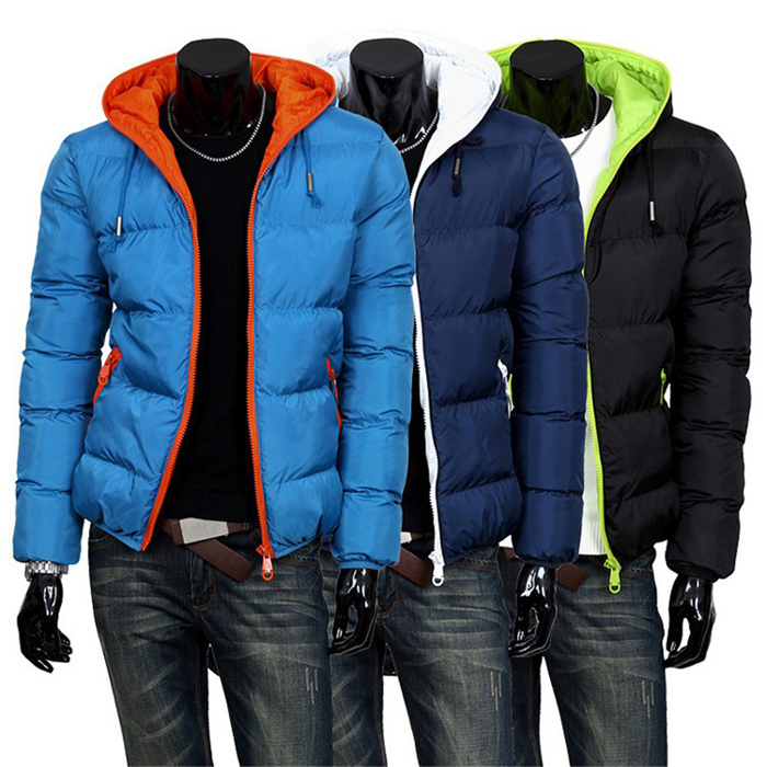 2015 New Mens Winter Jacket Men's Hooded Wadded Coats Outerwear Male Slim Casual Cotton Outdoors Outwear Down Jackets Hot Sale(China (Mainland))