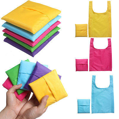 2 Reusable Folding Shopping Bag Environmental Travel Grocery Tote Handbag Cheap portable Storage bags(China (Mainland))