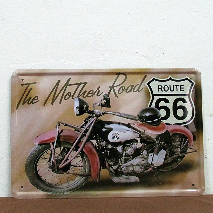 Metal Tin Signs Vintage Motorcycle Route Wall Garage Decor 20x30cm/8x12inch House Hall Parlor Home Station Street Shop Square(China (Mainland))