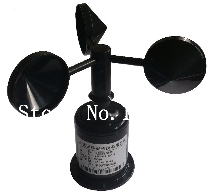 [SA]YGC-FS wind sensor / transmitter cups anemometer (The standard 5V power supply, pulse signal output ) - SA ELECTRONICS TECHNOLOGY LIMITED store