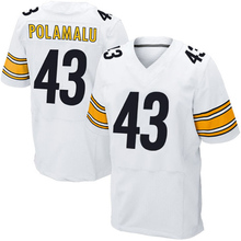 Men's #25 Artie Burns Adult #43 Troy Polamalu Jerseys Adult 7 Ben Roethlisberger #26 White Black Elite Stitched Free shipping(China (Mainland))