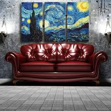 Buy printed Masters Starry Night Vincent Van Gogh prints reputation oil painting canvas wall art picture living room picture for $22.40 in AliExpress store