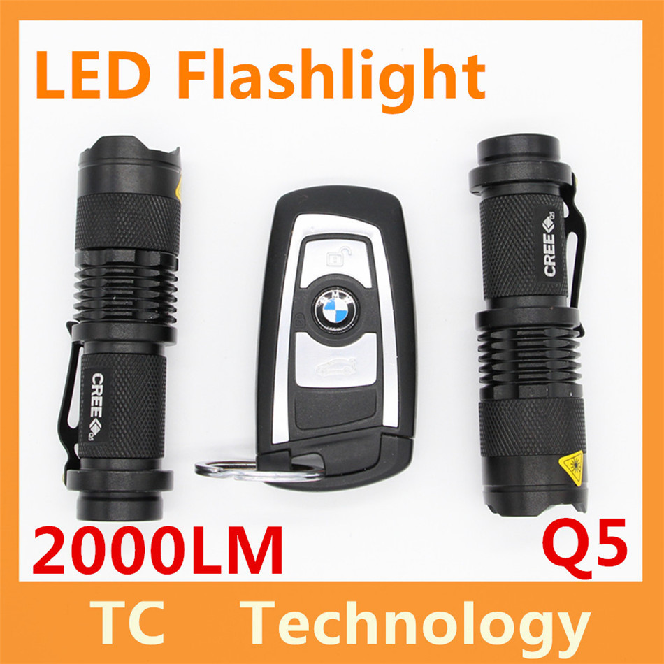 Q5 Self Defense Light Ultrafire 2000LM LED Flashlight Tactical 3 Modes Zoomable Lanterna LED Diving Flashlight Linterna LED Lamp(China (Mainland))
