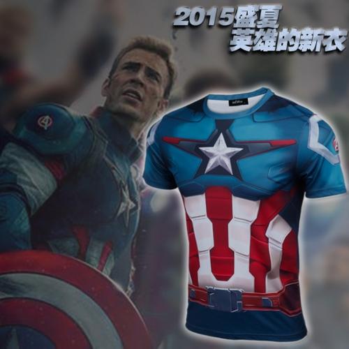 NEW 2016 super hero The hulk batman iron man The giant space COMPRESS T SHIRT male fitness 21 quick dry short T-shirt(China (Mainland))