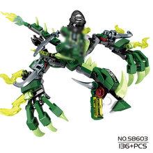 115 peças blocos de construção Compatível Com Legoing Ninjagoes ninja dragon knight iluminai bricks DIY brinquedo para crianças para amigos menino(China)